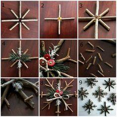 Homemade Christmas Tree, Alternative Christmas Tree, Christmas Ornament Crafts, Christmas Projects, Christmas Makes, Simple Christmas, All Things Christmas, Christmas Holidays, Country Christmas Decorations