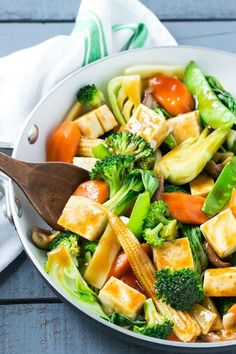 This recipe forBuddha's Delightis a classic Asian dish full of mixed vegetables and tofu in a savory sauce.