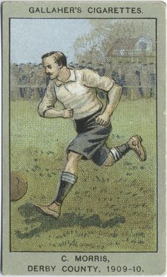 C. Morris, Derby County, 1909-10. From New York Public Library Digital Collections.