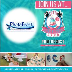 Oh Yeah !!! You know we couldn't miss this one !! We hope to see you there, - Team PhotoFrost https://www.facebook.com/PhotoFrost/  #SOFLO2018 #soflo2018 #photofrost #flexfrost #icingsheets #cake #cupcakes