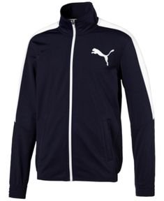 Puma Men's Contrast Zippered Track Jacket - Blue M