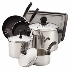 Farberware 77289 Classic 10-Piece Cook and Strain Cookware Set by Farberware >>> Click image for more details.