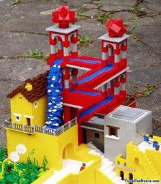 MC Eshers Waterfall in Legos