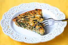 Brunch - crustless spinach quiche