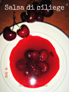 vaniglia e cioccolato: Salsa di ciliege