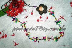 ♥Colar Colorido com detalhe em flor♥
