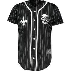 """Criminal Damage"" Black & White Stripe Baseball Jersey - That should be mine!"
