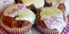 King Cake Cupcake recipe. #mardigras