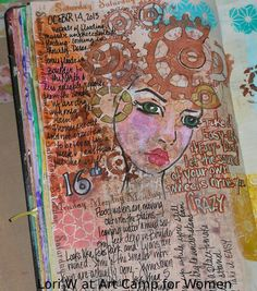 PG#! finished page, Art journal inspiration.