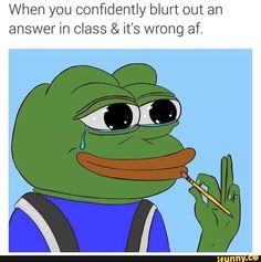 meme, pepe, confidently, blurt, wrong
