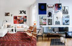 Como pendurar quadros na parede -  blog de decoração - Outra opção é alinhar por baixo, ou por cima, por uma linha de base.