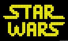 Star Wars logo perler bead pattern Star Wars Quilt, Star Wars Room, Star Wars Crochet, Crochet Stars, Cross Stitching, Cross Stitch Embroidery, Cross Stitch Patterns, C2c, Fuse Beads