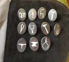 All images from Badges & Buttons Waistcoats & Vests at Velvet da Vinci Contemporary Art Jewelry and Sculpture Gallery,