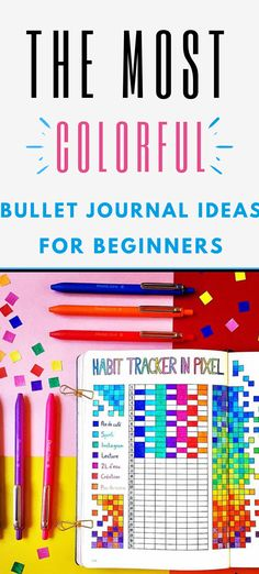 Starting a colorful bullet journal is the perfect thing to do for beginners who need a creative outlet. Making A Bullet Journal, Bullet Journal Hacks, Bullet Journal Printables, Bullet Journal How To Start A, Bullet Journal Notebook, Bullet Journal Spread, Bullet Journal Layout, Bullet Journal Ideas Pages, Bullet Journal Inspiration