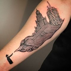 Radio Head Tattoo, Original art by Stanley Donwood