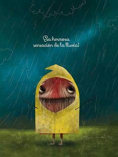 La hermosa sensación de la lluvia