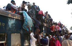 Sep 29, 2008 Pictures of the Day - Photo Journal - WSJ Passengers tried to catch an overcrowded train Monday on the outskirts of Dhaka, Bangladesh. Muslims will be traveling to their hometowns to celebrate Eid al-Fitr, which marks the end of the Muslim holy fasting month of Ramadan. (Pavel Rahman/Associated Press)