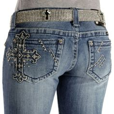 Miss Me Jeans #Miss_Me_Jeans #fashion #blue_jeans #love Miss Me Jeans - Embellished Cross Embroidery Slim Fit Skinny