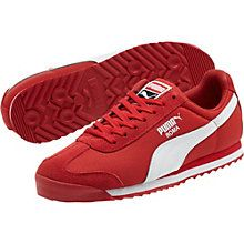 The Roma is the stuff of PUMA Archive legend with its sport-turned-street style. The original, which debuted in 1968, was geared for sprints, hurdles, and sweatbands with its padded nylon-suede styling and knack for collecting medals. It's reissued here, in all its glory (less the tube socks) and is fully equipped with a padded tongue and arch support. Fresh details include its ripstop and suede upper.  Features:    Ripstop and suede upper  T-toe construction  Lace closure for a snug fit…