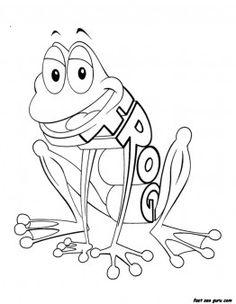 print out preschool kindergarten alphabet worksheets frog printable coloring pages for kids