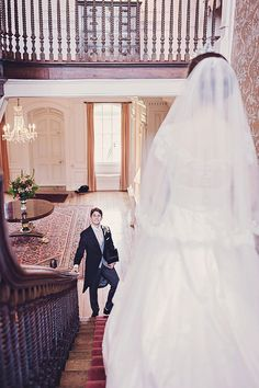 bride and groom on stairs - Google Search
