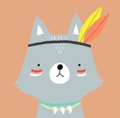 Cute illustration of woodland creature
