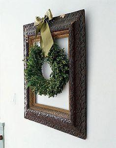 Add a frame around my living wreath.