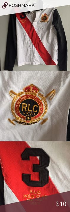 Ralph Lauren Polo Long Sleeve Not sure of size as the tag was cut Polo by Ralph Lauren Shirts & Tops Polos