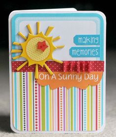 """Making Memories"" card, by Deanna Misner"