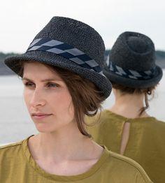 Hüte - Fedora Women's Sommer Hut, Strohhut, Sonnenhut - ein Designerstück von Nada-Quenzel bei DaWanda