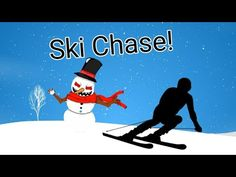 Ski Chase - Winter themed PE Game Pe Games For Kindergarten, Pe Games Elementary, Pe Activities, Movement Activities, Winter Fun, Winter Theme, Adapted Pe, Pe Ideas, Gym Games