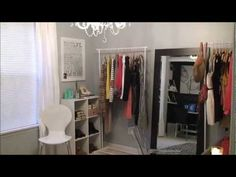 Makeup Storage Ideas =) My dressing room/office space tour..