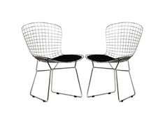 Bertoia Style Wire Dining Chair (Set of 2)
