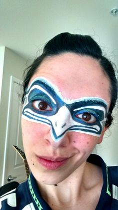 Seattle Seahawks Face Paint!