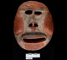 Humanoid mask, Yup'ik, Alaska. Mouth of Yukon River, received 1938