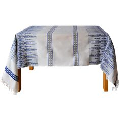 Dress your table to impress! Traditional Greek woven scrolls in vibrant blue hue.      Available @ www.urbanfolk.eu