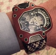 UR-110 Wood Macasar, URWERK by timeandwatches