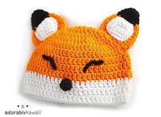 Ravelry: Sleepy Fox Baby Hat pattern by Anda Molina by Paula Maldonado