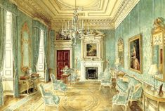 Drawing Room at DItchley Park by Alexadre Serebriakoff