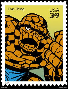 The Thing stamp by the master Jack Kirby.