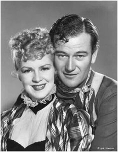 "Claire Trevor and Wayne from 'Stagecoach""."