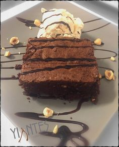 Chocolate pie with homemade icecream!!!!! Best dessert at Syros island!!!