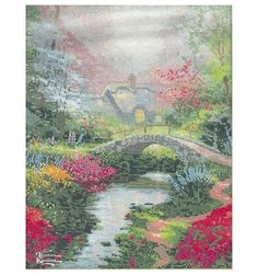 Thomas Kinkade Brookside Hideaway Counted Cross Stitch Kit - I will get this done!!!