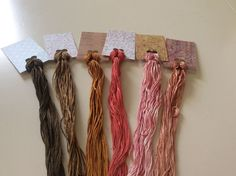 Wholesale - Overdyed Floss Spring Colors 6 large skeins - Natural Dyes  Lot 48 #QueenCityDyeCompany