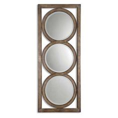 Uttermost Isandro Decorative Circles Wall Mirror - 28.25W x 70.625H in. - 13533 B