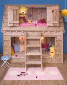 kids loft beds | Cute Kids Loft Beds with Birdhouse Shape | Furnikidz.com | Best ...