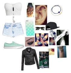 """""""At Tyler's game"""" by cmsvball19 on Polyvore featuring MANGO, NLY Trend, Vans, Casetify, Bling Jewelry, Ray-Ban, Astley Clarke, BERRICLE and MuuBaa"""