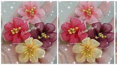 Nylon Flowers, Organza Flowers, Fabric Flowers, Bow Tutorial, Flower Tutorial, Ribbon Crafts, Flower Crafts, Handmade Flowers, Diy Flowers