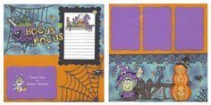 Halloween double page idea Scrapbook Splitcoaststampers