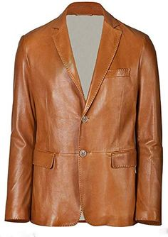 SRHides Mens Fashion Xmen Wolverine Orange Piping Leather Jacket